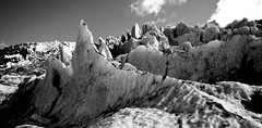 Icefall landscape (B&W)