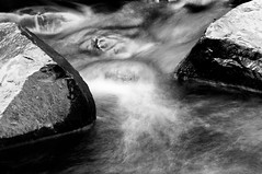 Water and stone (B&W)