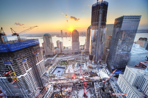 World Trade Center Sunset