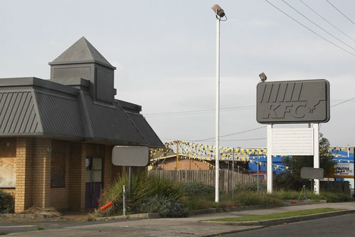 Abandoned KFC fast food restaurant in Morwell