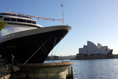 Sydney, Australia, The ms Volendam in Sydney Harbor  on Sunday -  and the Opera House    - IMG_3280
