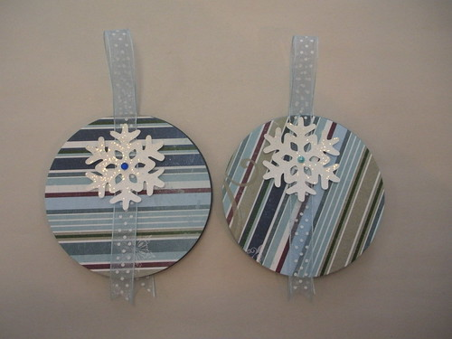 Snowflake Gift Tags 2011 Back