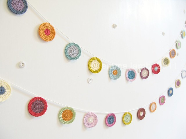 crochet Penny garlands by Emma Lamb
