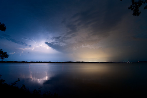 Lightning over St. Lawrence River (Explored #27 Aug 14)