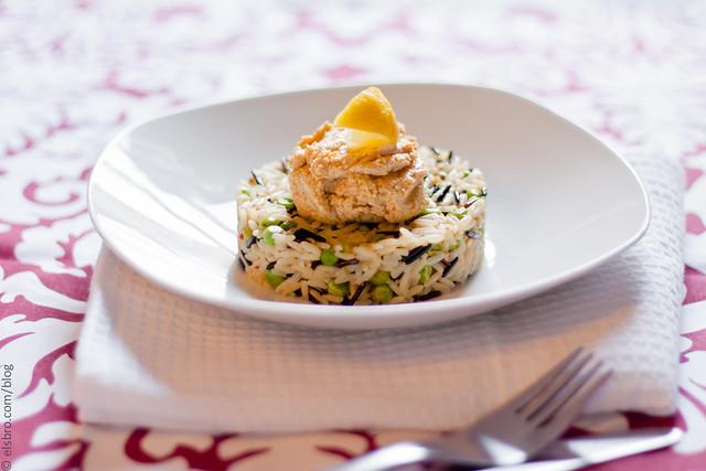 229/365 Dinner - Rice & Peas & Hummus #mostly365