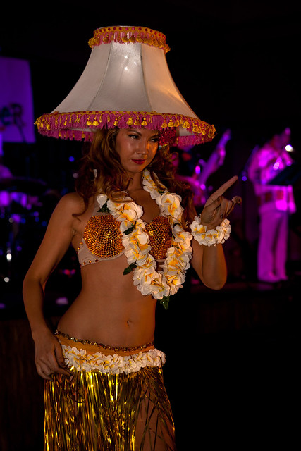 A Human Hula Girl Lamp