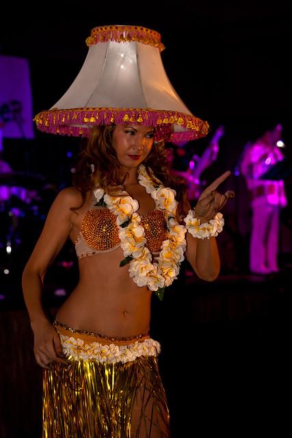 A Human Hula Girl Lamp