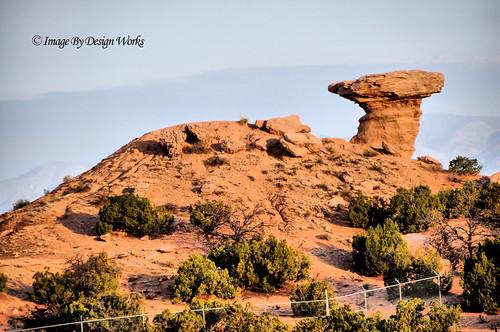 newmexico santafe rock sandstone pueblo casino formation camel hoodoo geology sangredecristomountains tesuque tewa imagebydesignworks