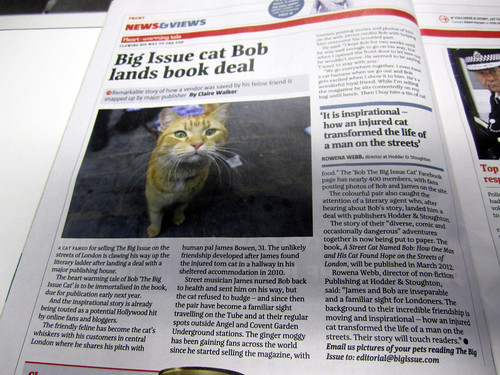 Last week's Big Issue featured Bob's Book Deal