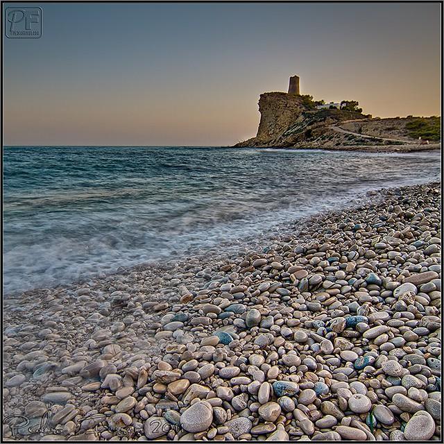Cala el charco y torre Montíboli.  Villajoyosa - Alicante