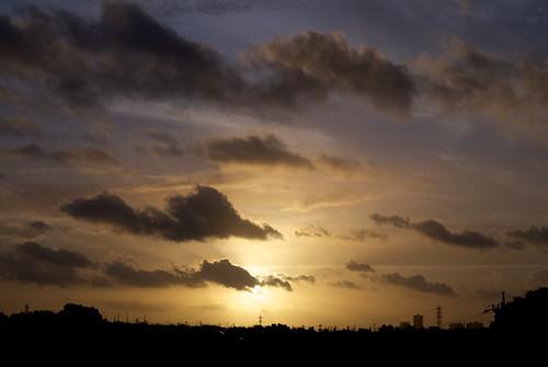 japan sunrise nikon kanagawa kawasaki 川崎 神奈川 日の出 ニコン d80 colorphotoaward