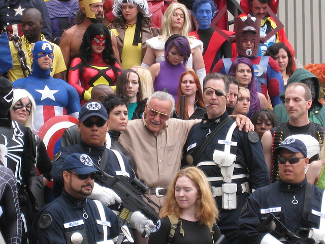 Stan Lee at Marvel Photo shoot Dragon Con 2011