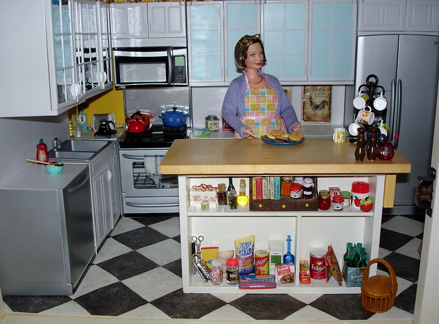 Kitchen Diorama Made Of Cereal Box: Great Kitchen Dioramas