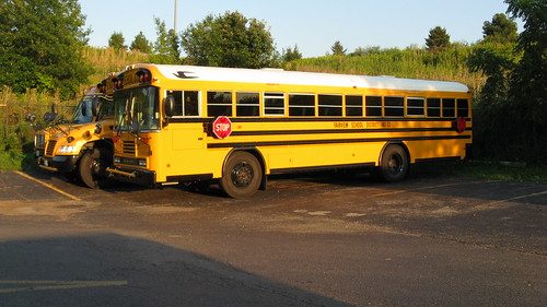 Bluebird school buses.  Glenview Illinois USA. August 2011. by Eddie from Chicago