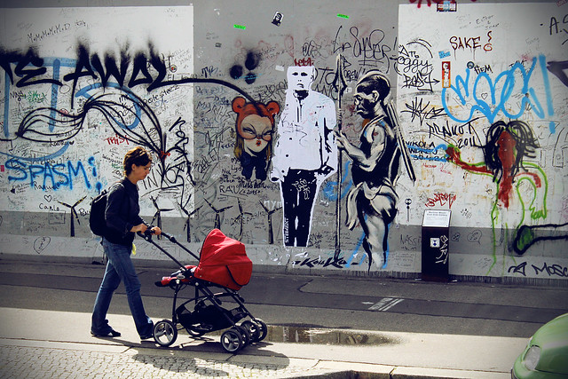 banksy berlin wall flickr photo sharing. Black Bedroom Furniture Sets. Home Design Ideas