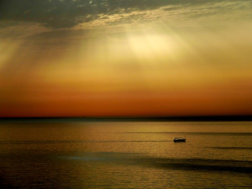 africa morning sea sky sun beautiful sunrise boat early day waves tunisia north rays sousse beams explored nuframe