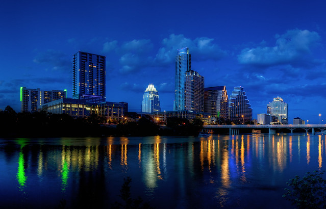 (Very) Blue Hour, Austin  Skyline