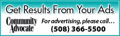 For Advertising, Please Call – (508) 366-5500