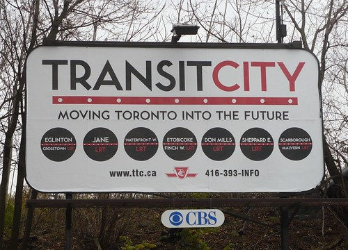 Transit City billboard promotion, Toronto Transit Commission