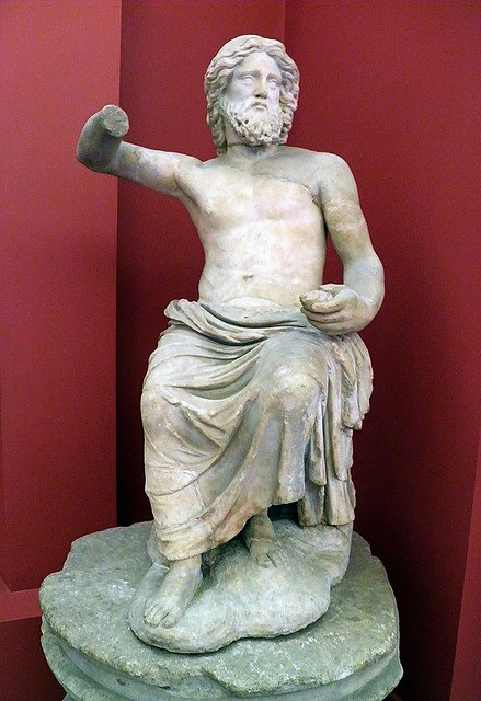 Jupiter seating of his throne on Mount Olympus, 2nd century AD, Ashmolean Museum