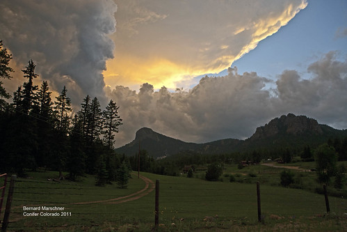 sunset thunderstorm conifercolorado