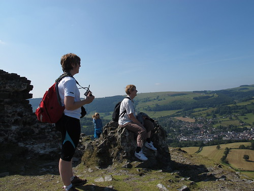 My mum, sister and niece at Castell Dinas Bran in Wales last summer.