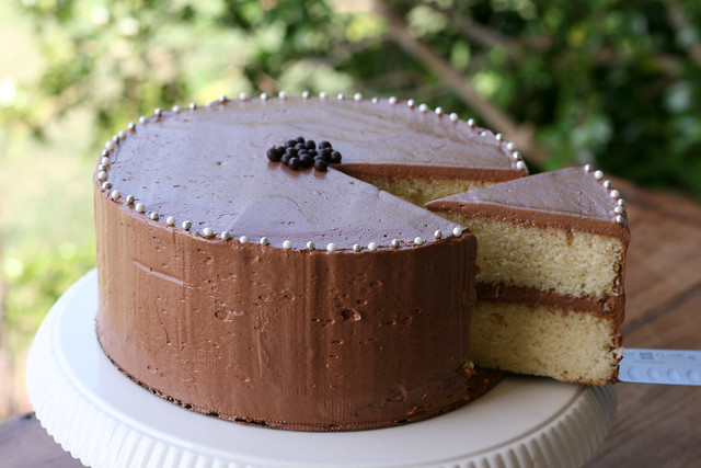 Flour Bakery - Yellow Cake with Fluffy Chocolate Ganache Frosting ...