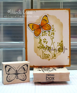 Memory Box Butterfly and leaves