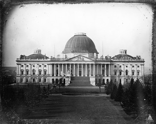 "This photograph of the U.S. Capitol from 1846 is one of the earliest known. It shows the Capitol with its original ""Bulfinch"" dome."