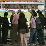 Lords Cricket Ground - Aug 2011 - The Pavilion, The Tour Guide and the Legs