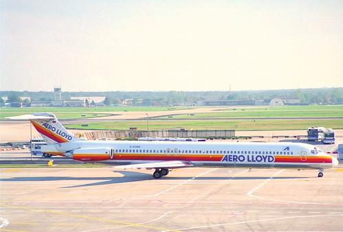 Aero Lloyd MD-83; D-AGWB@FRA;10.10.1995