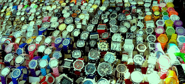 Watches, Market Stall Torrevieja Spain