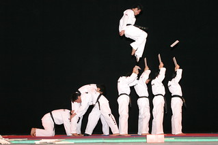 Taekwondo performance by K-Tigers