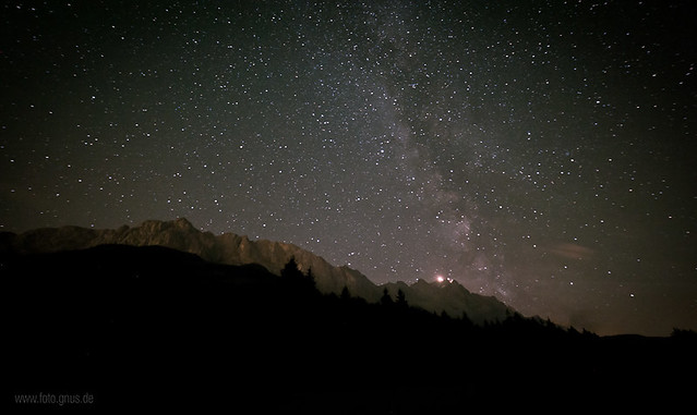 Milky way on top