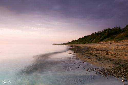 sunset sea beach water coast sand baltic lithuania sigma1020mmf456exdchsm karkle canoneos50d hitechreversendgradfilter