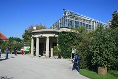Eingang Gewächshäuser - Botanischer Garten