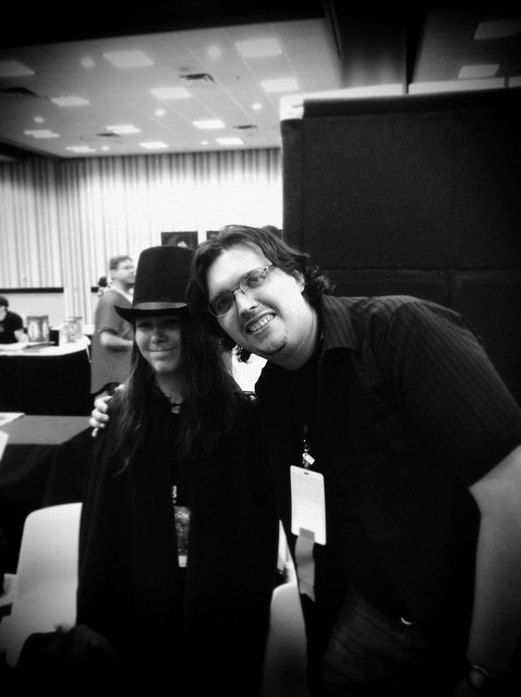 2011 Dragoncon - Aaron with Andy Runton