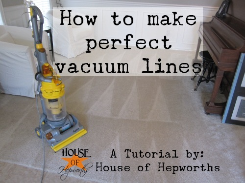 how to create perfect vacuum lines with a vlog tutorial