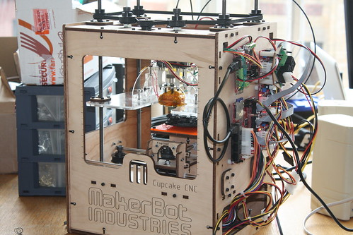 Photo of the DoES Liverpool CupCake 3D printer
