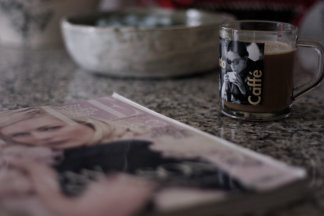Strong coffee and Elle