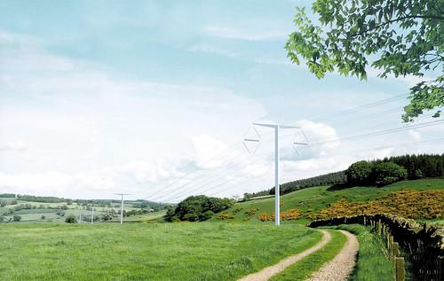 英國未來將採用的新型電塔。(來源:DECCgovuk)