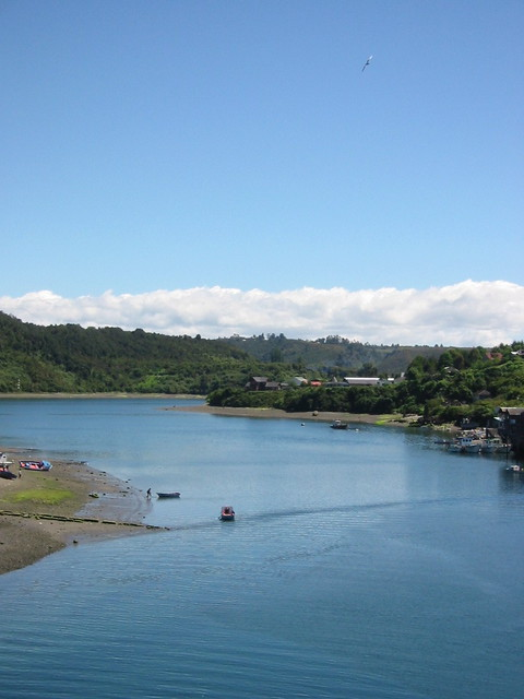 Departing Puerto Montt on the Navimag ferry