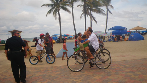 Lots of bicycles on Hollywood Beach