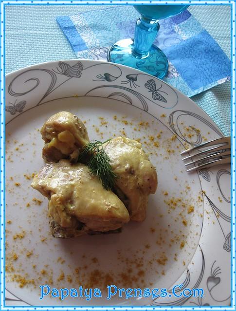 kremalı körili tavuk