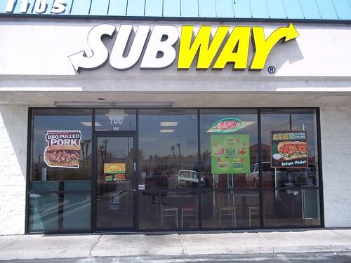 Un restaurante Subway