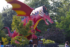 art, sculpture, dragon, dinosaur, park,
