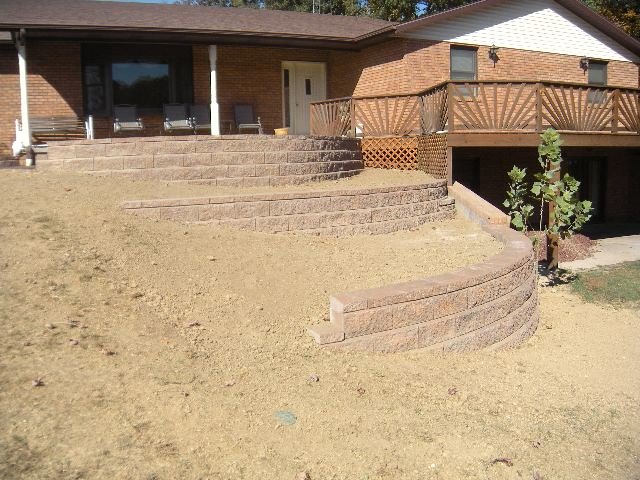 Photo for Walkout basement retaining walls