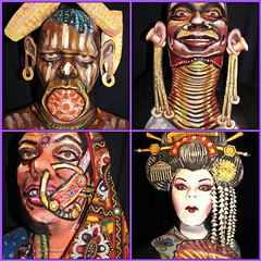 World culture face paintings by James Kuhn.