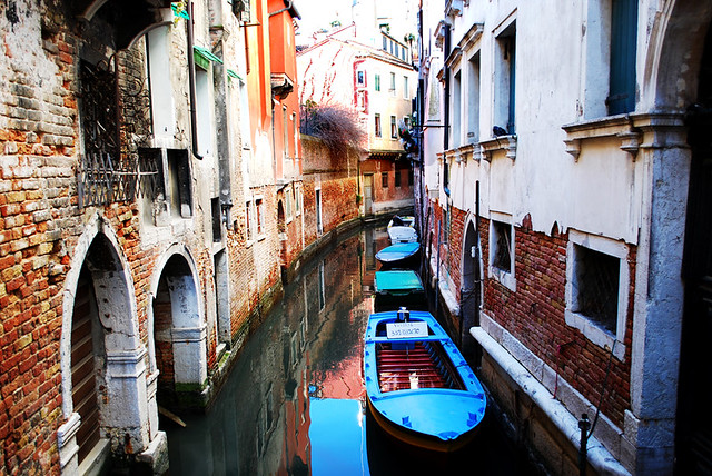 Venice Side Canal by flickr user inspiredvision