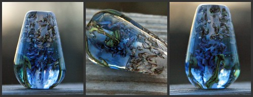 Mushroom Hunting in Wonderland Lampwork Focal Bead by Glass Addictions